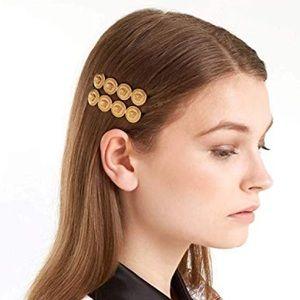 Medusa Inspired Gold Colin Hair Clips